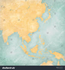 Asia Blank Map Blank Map East Southeast Asia Country Stock Illustration 599896994