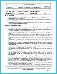 Mailroom Clerk Job Description Resume by 100 Resume Description For Bartender Curriculum Vitae