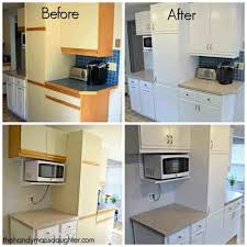 Handyman Kitchen Cabinets Inspiring Tips For Updating Melamine Cabinets With Oak Trim The
