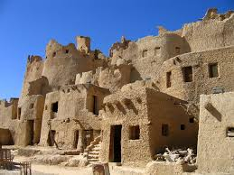 egyptian town old homes in the egyptian desert town of siwa