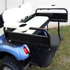 box cart yamaha rear seat utility box golf cart rear seat kit flip flop