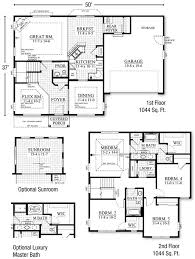 two story house plans with library homes zone