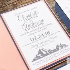 mountain wedding invitations wedding invitations find your style all that glitters invitations