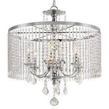 Light Crystal Chandelier Crystal Chandeliers Hanging Lights The Home Depot