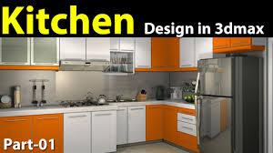design 3d kitchen kitchen and decor kitchen design in 3d max part 01 youtube