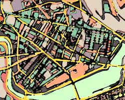 Map Of Cambridge Ma Art Print Of Cambridge Map For Sale Modern Map Art U2013 Abstract