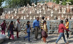 mosaic sculptures to handcrafted waterfalls chandigarh u0027s rock