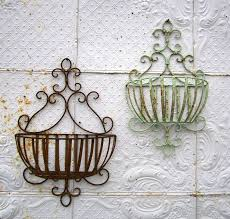 wrought iron susanna half wall baskets in 2 sizes