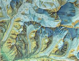 Map Art This Shaded Map Of Mount Everest By Swiss Cartographer Eduard