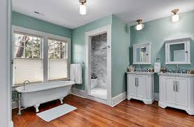 cool paint color for bathroom with vanity and white cabinets plus