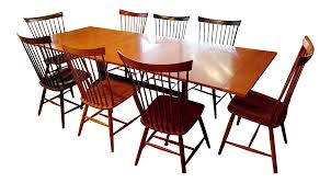 ethan allen table chairs ethan allen country colors dining set with table and 8 fan back