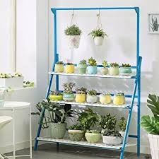 indoor plant display amazon com indoor plant display stand folding bamboo flower