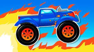 Monster Truck Cars Crash Vehicles For Children Kids Animation