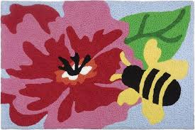 Hibiscus Rug Jellybean Rug Hibiscus And Bee U2013 The Bugs Ear