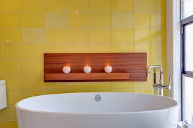 Yellow Bathtub 25 Bathtub Tile Designs Decorating Ideas Design Trends