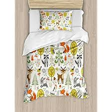 Forest Bedding Sets Duvet Cover Set By Ambesonne Woodland Forest