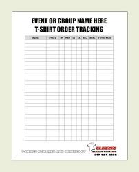 order forms blank t shirt order form template more 25 best order