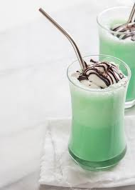 milkshake photography vanilla mint milkshake jelly toast