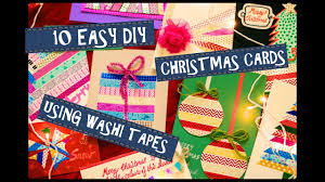 christmas cards using washi tape 10 easy diy cards easy crafts
