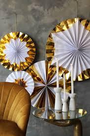 Pinwheel Decorations Set Of 4 Foil Giant Pinwheel Decorations Gold