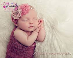 baby girl hair bands free headband newborn girl baby headband dusty pink shabby chic
