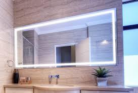 modern lighted bathroom mirror design