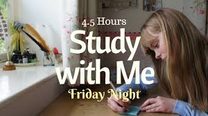 after school study study with me after school friday