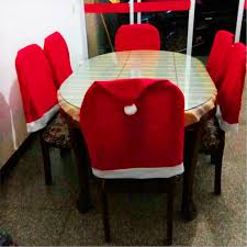 christmas chair covers christmas chair cover set santa clause babbo natale decoration hat
