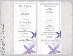 purple wedding programs wedding program template purple starfish