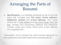 the word resume resume