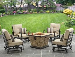 Gas Fire Pit Table And Chairs Better Homes And Gardens Sandridge 5 Piece Slat Back Gas Fire Pit