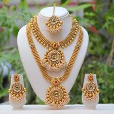 necklace set buy antique flower design multicolor semi bridal necklace set online