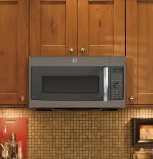 Ventless Microwave Ge Profile Series 1 7 Cu Ft Convection Over The Range Microwave