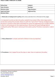 download policy and procedure template for free tidyform