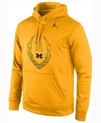 michigan wolverines fan gear nike men s michigan wolverines football icon hoodie sports fan