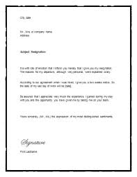 letter of resignation 2 weeks notice template all about letter