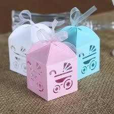 aliexpress com buy 50pcs baby carriage laser cut candy box gift