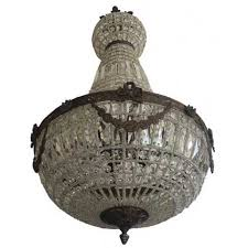 Basket Chandeliers French Empire Basket Bowl Palace Garland Bronze Antique Replica