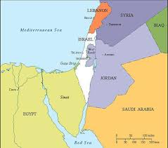 Blank Map Of Egypt And Surrounding Countries by Israel Maps Cie