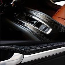 Vinyl Car Interior Black Crocodile Leather Grain Car Vinyl Wrap Sticker Car Interior