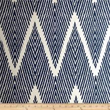 Designer Material For Curtains Lacefield Bali Chevron Slub Navy Chalk From Fabricdotcom 18