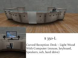 Reception Desk Curved Second Marketplace Curved Reception Desk Light Wood1