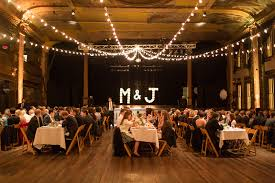 wedding backdrop initials strung lights marquee backdrop of couples initials in