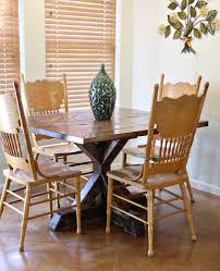 white square kitchen table ana white square x base pedestal dining table diy projects