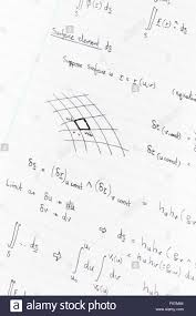 writing on lined paper surface integration equations and diagram for physics handwritten stock photo surface integration equations and diagram for physics handwritten on lined paper