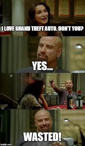 Wasted Meme - skinhead john travolta meme imgflip