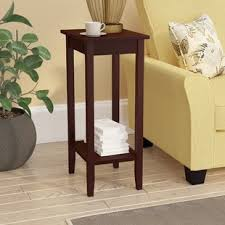 rosewood tall end table coffee brown extra tall side table wayfair