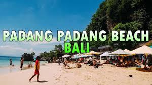 Sand Beach by Padang Padang Beach Bali Beautiful White Sand Beach Youtube