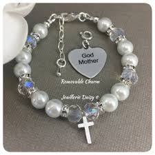 baptism charm bracelet gift for godmother jewelry charm bracelet godmother gift