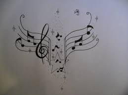 music notes tattoo in ear photo 3 real photo pictures images